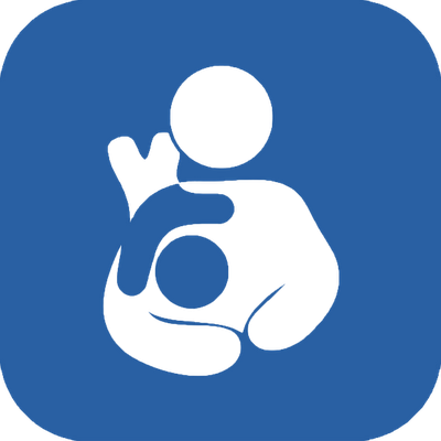 Toddler breastfeeding symbol